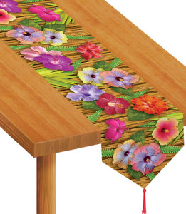 chemin de table fleur exotique