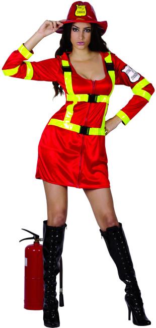 deguisement femme pompier