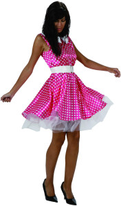 robe a pois rose