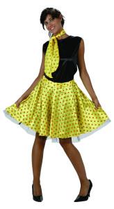 robe rock jaune