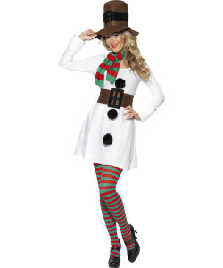 Robe bonhomme de neige femme