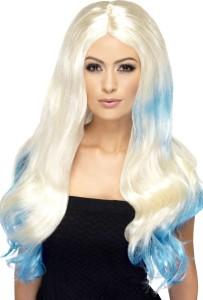 perruque blonde et bleue